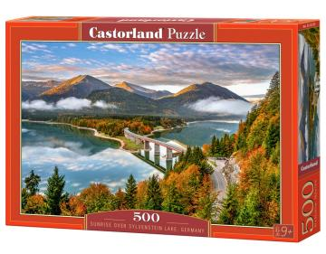 Sunrise over Sylvenstein Lake, Germany - Puzzle - 500 Teile · CAS 53353 ·  Castorland