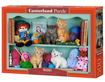 Kitten Shelves - Puzzle - 500 Teile · CAS 53377 ·  Castorland