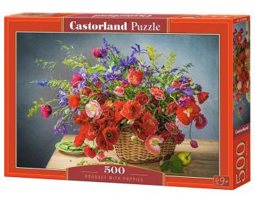 Bouquet with Poppies - Puzzle - 500 Teile · CAS 53506 ·  Castorland