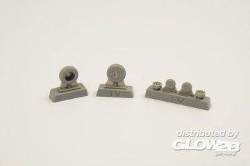 P-40 - Wheels - Diamond and hole tread [Special Hobby] · CMK 129Q72298 ·  CMK · 1:72