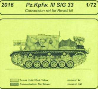 Pz.Kpfw. III SIG 33 - Conversion set [Revell] · CMK 2016 ·  CMK · 1:72