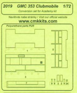 GMC 353 Clubmobile - Conversion set [Academy] · CMK 2019 ·  CMK · 1:72