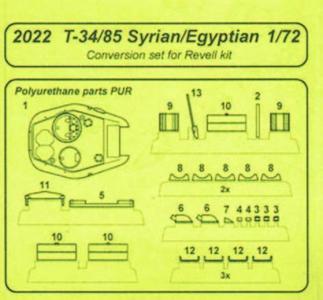 T-34/85 Syrian/Egyptian Version Resin - Umbauset [Revell] · CMK 2022 ·  CMK · 1:72