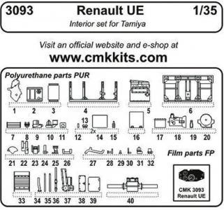 Renault UE - Interior [Tamiya] · CMK 3093 ·  CMK · 1:35