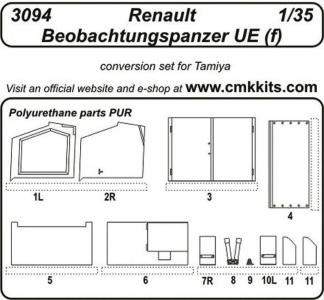 Renault Beobachtungspanzer UE (f) [Tamiya] · CMK 3094 ·  CMK · 1:35
