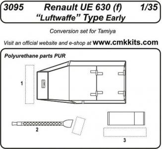 Renault UE 630 (f) Luftwaffe Type Early [Tamiya] · CMK 3095 ·  CMK · 1:35