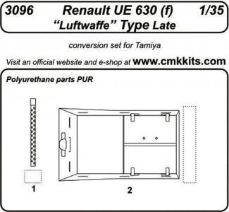 Renault UE 630 (f) Luftwaffe Type Late [Tamiya] · CMK 3096 ·  CMK · 1:35
