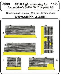 BR-52 Light armouring for locomotive´s boiler [Trumpeter] · CMK 3099 ·  CMK · 1:35