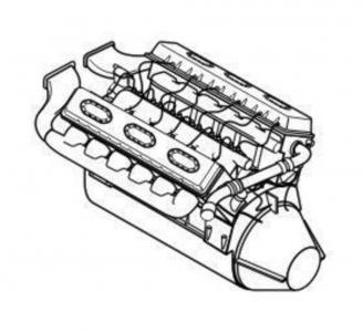 Maybach HL 230 P30 German tank - Engine · CMK 3110 ·  CMK · 1:35