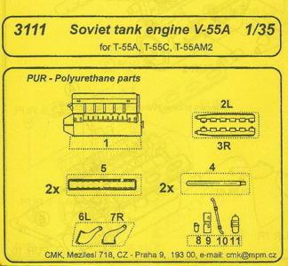V-55A Soviet Tank - Engine · CMK 3111 ·  CMK · 1:35