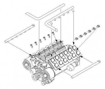 Tatra 103 WWII German - Engine · CMK 3117 ·  CMK · 1:35