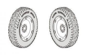 Autoblinda AB.43/Pz.Sp.Wg.AB.203 (i) - Spare - Wheels set [Italeri] · CMK 3127 ·  CMK · 1:35