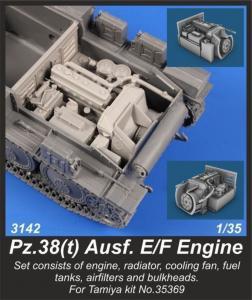 Pz.38(t) Ausf. E/F - Engine Set · CMK 3142 ·  CMK · 1:35