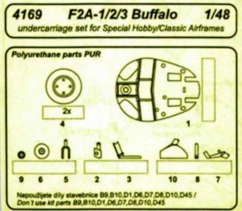 Buffalo F2A-1/2/3 - Undercarriage · CMK 4169 ·  CMK · 1:48