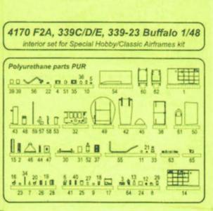 Buffalo F2A-1/2/3  - Interior · CMK 4170 ·  CMK · 1:48