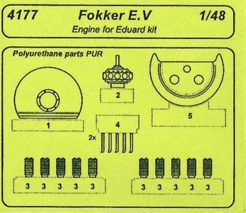 Fokker E.V - Motor Set [Eduard] · CMK 4177 ·  CMK · 1:48