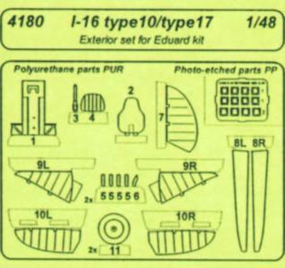 I-16 typ 10 - Exterior [Eduard] · CMK 4180 ·  CMK · 1:48