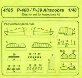 P-400/P-39 Airacobra - Exterior Set [Hasegawa] · CMK 4185 ·  CMK · 1:48