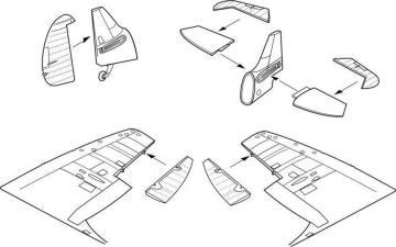 Spitfire Mk.I - Control surfaces set [Tamiya] · CMK 4265 ·  CMK · 1:48