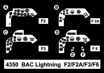 BAC Lightning F2/F2A/F3/F6 - Cockpit Set · CMK 4350 ·  CMK · 1:48