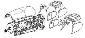 Messerschmitt Me-410B - Motor set · CMK 48008 ·  CMK · 1:48