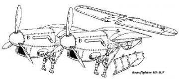 Beaufighter Mk II.F - Conversion set · CMK 48010 ·  CMK · 1:48