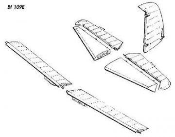 Messerschmitt Bf 109 E - Control surfaces · CMK 48057 ·  CMK · 1:48
