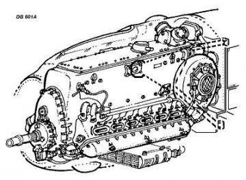 DB-601A/B - Deutscher Motor WWII · CMK 48059 ·  CMK · 1:48