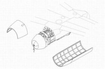 Messerschmitt Me 262 A/B - Motor set · CMK 48074 ·  CMK · 1:48