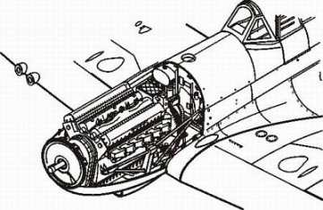 Spitfire Mk.IX - Motor set · CMK 48102 ·  CMK · 1:48