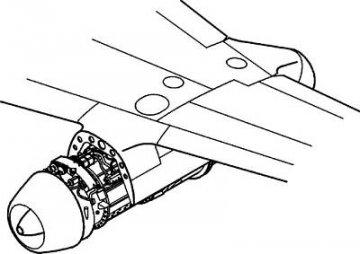 Messerschmitt Me 262 A - Motor set · CMK 48115 ·  CMK · 1:48