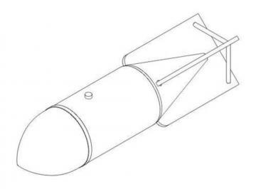 German WWII bombs SC 500 (2 Stück) · CMK 5040 ·  CMK · 1:32