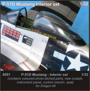P-51D Mustang - Interior set [Dragon] · CMK 5051 ·  CMK · 1:35