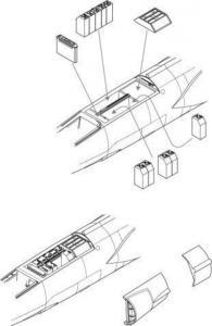 F-104G Starfighter - Electronic boxes (behind. cockpit.) · CMK 5057 ·  CMK · 1:32