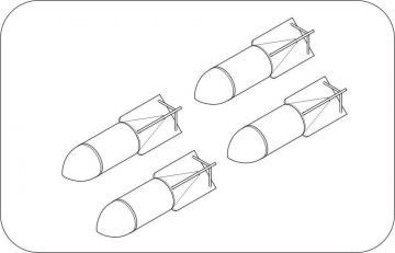 WWII German bomb SC 250kg (4 Stück) · CMK 5065 ·  CMK · 1:32