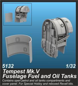 Tempest Mk.V - Fuselage Fuel and Oil Tanks · CMK 5132 ·  CMK · 1:32