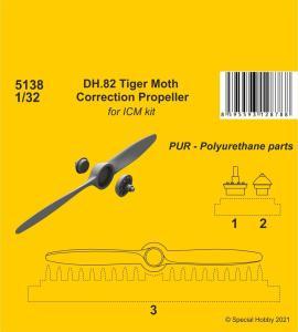 DH.82 Tiger Moth - Correction Propeller [ICM] · CMK 5138 ·  CMK · 1:32