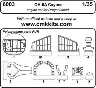 OH-6 - Engine Set [Dragon] · CMK 6003 ·  CMK · 1:35