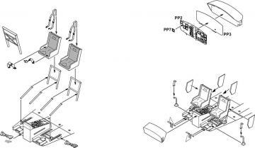 UH-1D - Interior set [Dragon], USA, Modern · CMK 6005 ·  CMK · 1:35