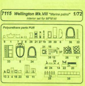 Wellington Mk.VIII Marine Patrol Int. Resin - Detail set [MPM] · CMK 7115 ·  CMK · 1:72