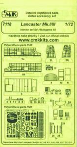 Lancaster Mk.I/III - Detail set innen [Hasegawa] · CMK 7118 ·  CMK · 1:72