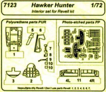 Hawker Hunter - Interior set [Revell] · CMK 7123 ·  CMK · 1:72