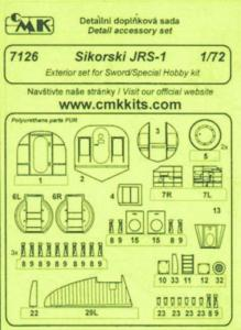 Sikorski JRS 1 - Exterior set [Sword/Special Hobby] · CMK 7126 ·  CMK · 1:72