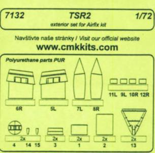 TSR 2 - Exterior set [Airfix] · CMK 7132 ·  CMK · 1:72