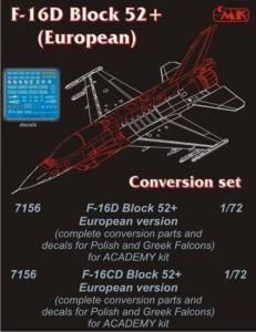 F-16D Block 52+ Europe [Academy] · CMK 7156 ·  CMK · 1:72