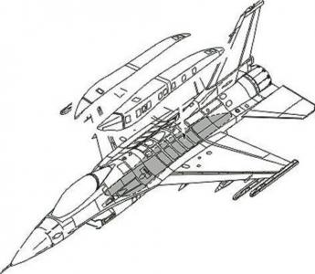 F-16C Conformal Fuel Tank - Armament set [Academy] · CMK 7159 ·  CMK · 1:72