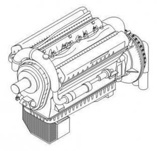Rolls Royce Merlin XX - Engine · CMK 7166 ·  CMK · 1:72