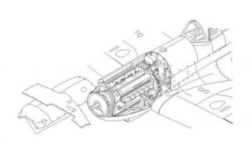 Spitfires Mk.IX - Engine set [Airfix] UK,WWII · CMK 7195 ·  CMK · 1:72