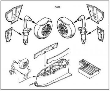 F-84 - Fahrwerk Set · CMK 72035 ·  CMK · 1:72