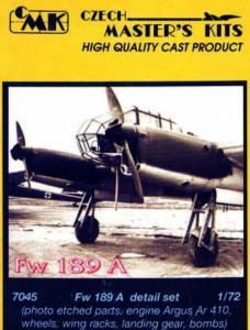 Focke-Wulf Fw 189 A - Detail Set · CMK 72045 ·  CMK · 1:72